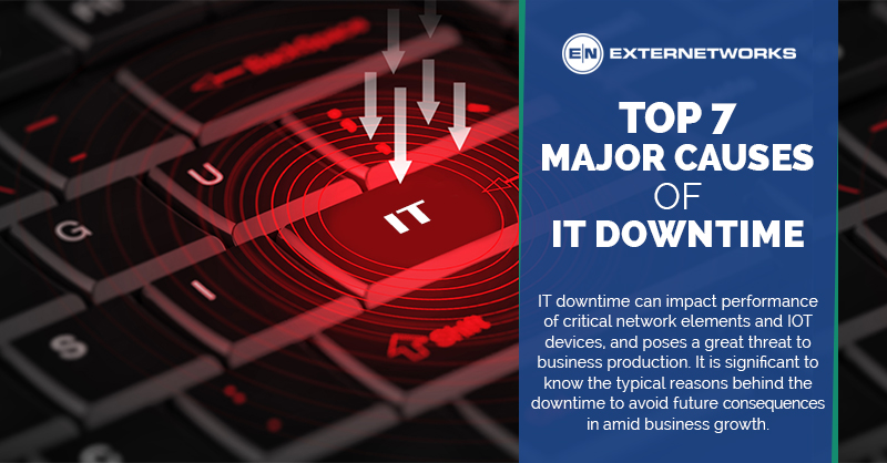 Top 7 Major Causes of IT Downtime - ExterNetworks Inc